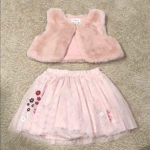 Gymboree skirt and vest
